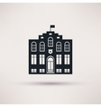 Police station The building is an icon flat vector image vector image