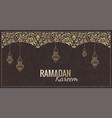 ramadan kareem greeting card islam vector image