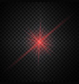red glow light effect vector image vector image