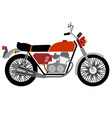 red motorcycle vector image