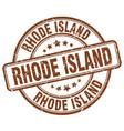 rhode island stamp vector image