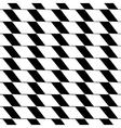 Rhombus black seamless pattern vector image vector image