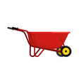 santa claus wheelbarrow red xmas grounds trolley vector image