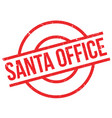 santa office rubber stamp vector image vector image