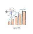 schedule profit growth vector image vector image