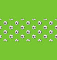seamless pattern from football balls balls vector image