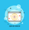 server error thin line concept vector image