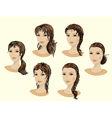 Set of beautiful female faces vector image vector image