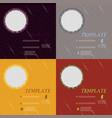 set of business brochure flyer design layout vector image