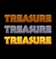 set treasures logo is gold wood and stone vector image vector image