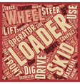 Skid Loader 1 text background wordcloud concept vector image vector image