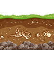 soil layers with bones vector image
