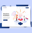 solutions architect isometric concept vector image