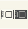 ssd drive line and glyph icon storage vector image vector image