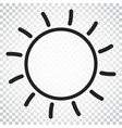 sun icon sun with ray symbol simple business vector image
