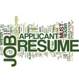 The aims of job resume text background word cloud