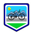 the cycling community logo vector image vector image