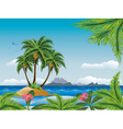 Tropical island in the ocean vector image vector image