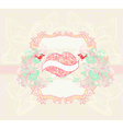 valentines day greeting card with 2 sweet love vector image vector image