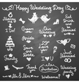 wedding letterings vector image
