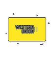 western union credit card design vector image