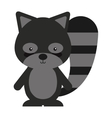 woodland raccoon animal character cute icon vector image