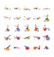 yoga and human exercises flat vector image vector image