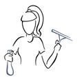 Maid at work vector image