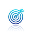 target with arrow linear icon isolated over white vector image