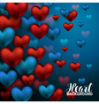 a Valentines Day Card Love romantic 3D Realistic vector image vector image