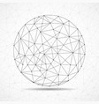 abstract wireframe globe sphere network vector image