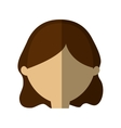 avatar woman face brunette hair shadow vector image vector image