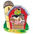 barn with various farm animals vector image