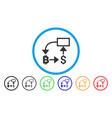 bitcoin dollar flow chart flat icon vector image vector image