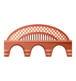 bridge urban crossover architecture bridge vector image vector image