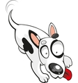 bull terrier on a white background vector image vector image