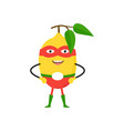 cartoon superhero character lemon flat design vector image vector image