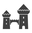 castle tower black icon kingdom and royal vector image vector image