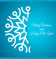 christmas background with snowflake with shadow vector image vector image