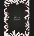 christmas decoration on blackboard vector image