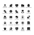 collection of data science glyph icons vector image vector image