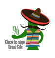 concept for sale at cinco de mayo cactus in the vector image vector image