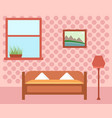 cozy guest room vector image