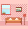cozy guest room vector image vector image