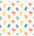 cute bird seamless pattern background vector image vector image
