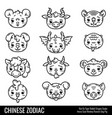 cute chinese zodiac vector image vector image