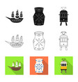 design and historic icon set and vector image