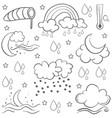 doodle of weather set art vector image vector image