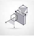 drawing of black and white industrial system vector image vector image