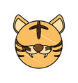 drawing tiger face animal vector image